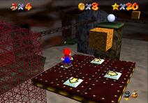 Rejas de la Cueva del Laberinto en Super Mario 64