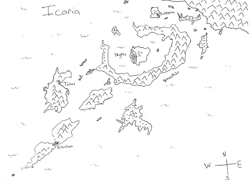 Icaria Rough Map
