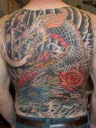 Japanese back tattoo by RedCraneTattoo