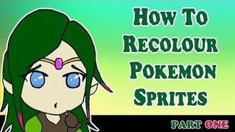 Recolouring Sprites for Project Pokemon - Part 1 Recolouring The Sprites (avoid copyright issues please)-1