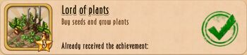 Achieve - Seed Planting - End Lord of Plants