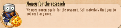 Task Line - 10 TtNL - 63 Money for the research