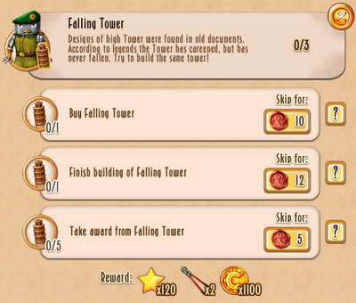 Tasks - Falling Tower