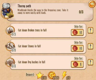 Tasks - Thorny path