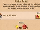It is time for Halt