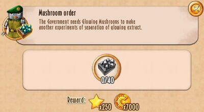 Tasks - Mushroom order