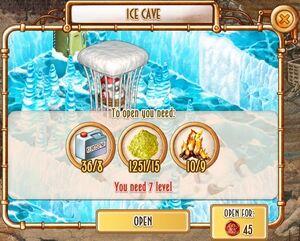 Ice Cave - unlock panel