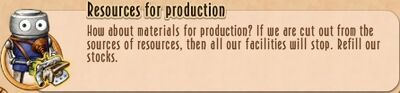 Task Line - 08BR - 21 Resources for production