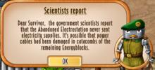 Message - Scientists report