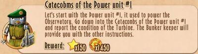 Task Line - 10 TtNL - 75 Catacobms of the Power unit 1