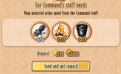 Tasks - For Command's staff needs