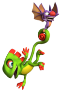 Laylee Flying with Yooka