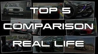Project CARS Top 5 - Comparison Real Life - PS4 XB1 WiiU PC