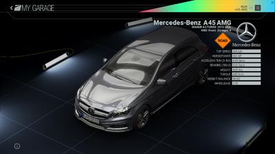 Project Cars Garage - Mercedes-Benz A45 AMG