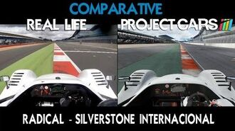 Project CARS Vs Real Life - Radical -Silverstone Internacional