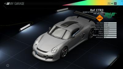 Project Cars Garage - Ruf CTR3