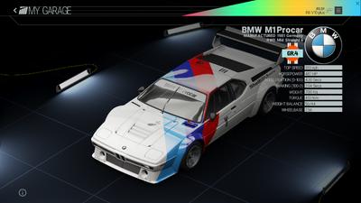 Project Cars Garage - BMW M1 Procar