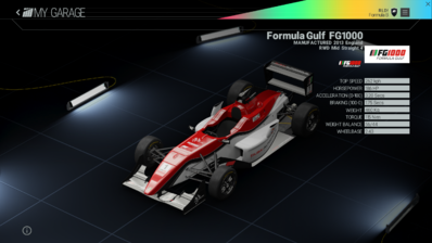Project Cars Garage - Formula Gulf FG1000