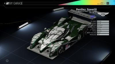 Project Cars Garage - Bentley Speed8