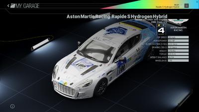 Project Cars Garage - Aston Martin Racing Rapide S Hydrogen Hybrid