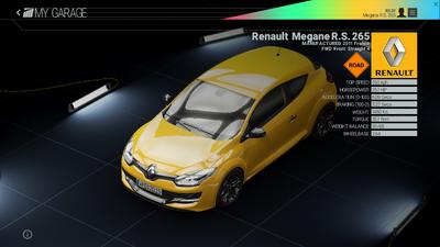 Project Cars Garage - Renault Megane R.S. 265png