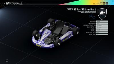 Project Cars Garage - SMS 125cc Shifter kart