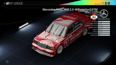 Project Cars Garage - Mercedes-Benz 190E 2.5 Evolution2 DTMpng