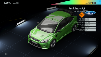 Project Cars Garage - Ford Focus RS