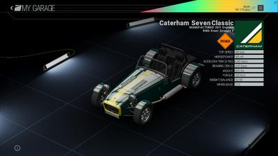 Project Cars Garage - Caterham Seven Classic