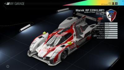 Project Cars Garage - Marek RP 339H LMP1