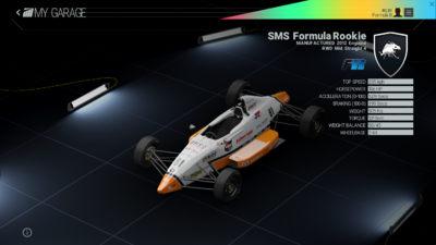 Project Cars Garage - SMS Formula Rookie