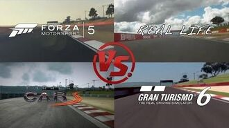 GT6 Vs Project Cars Vs Forza5 Vs Real Life @ Bathurst Comparison - DigiProst
