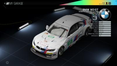Project Cars Garage - BMW M3 GT