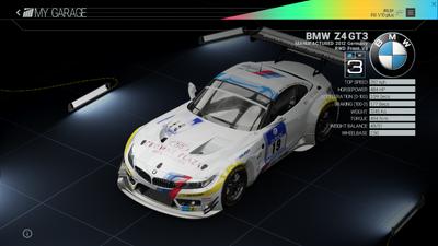 Project Cars Garage - BMW Z4 GT3