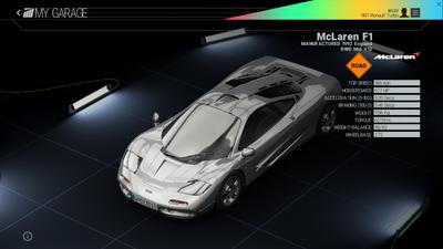 Project Cars Garage - McLaren F1