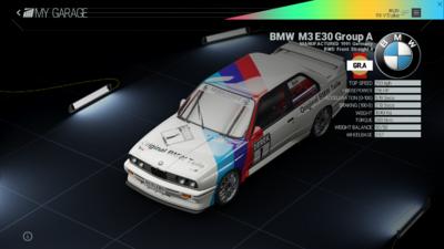 Project Cars Garage - BMW M3 E30 Group A