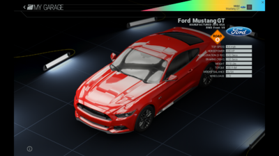 Project Cars Garage - Ford Mustang GT
