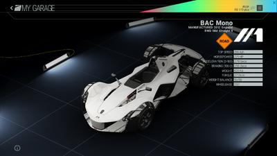 Project Cars Garage - BAC Mono