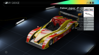 Project Cars Garage - Palmer Jaguar JP-LM