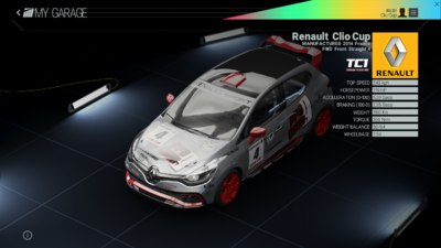 Project Cars Garage - Renault Clio Cup