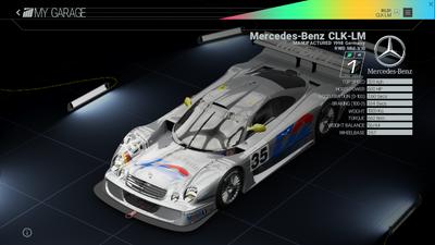 Project Cars Garage - Mercedes-Benz CLK-LM