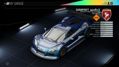Project Cars Garage - Gumpert Apollo S