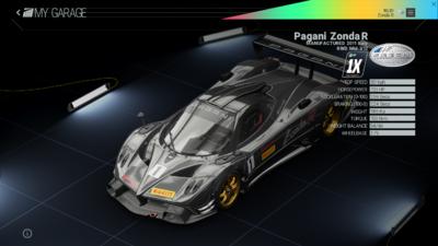 Project Cars Garage - Pagani Zonda R
