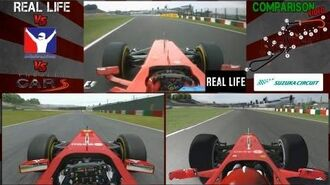 Project Cars Vs iRacing Vs Real Life @ Suzuka Comparison- Digiprost