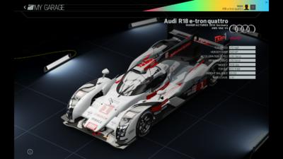 Project Cars Garage - Audi R18 e-tron quattro