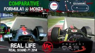 Project Cars Vs Reality - Real Sound F1 2014 @ Monza Comparison - Digiprost