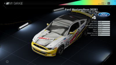 Project Cars Garage - Ford Mustang Boss 302R1
