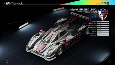 Project Cars Garage - Marek RP 219D LMP2