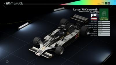Project Cars Garage - Lotus 78 Cosworth