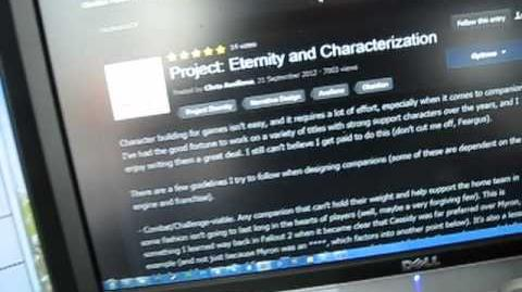 Project Eternity Update 10 Characterization with Chris Avellone